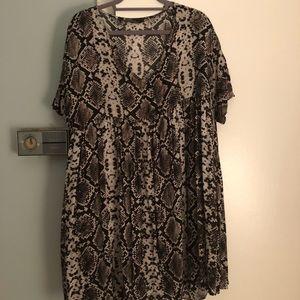 Zara Snake Print Tunic Dress Sz L